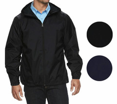 Maximos Men's Water Resistant Hooded Lightweight Windbreaker Rain Jacket Jasper image 1