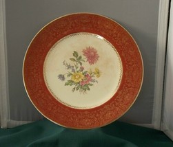 "Century By Salem 10 3/4"" 23K Dinner Plate Rust,... - $9.00"
