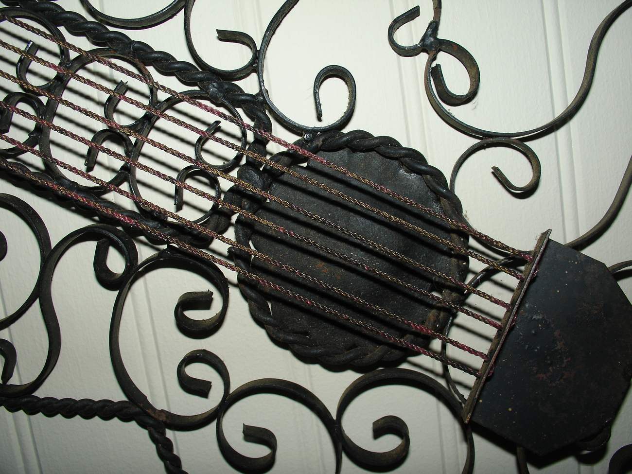 Vintage Decorative Metal Guitar