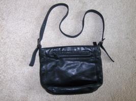 Tignanello Black Pebble Grain Leather Bucket Hobo Handbag Purse - $24.97