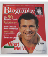 Biography Magazine December 2000 Mel Gibson Cover - $6.50