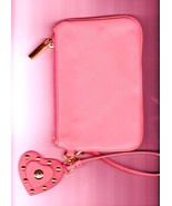 Torry  Burch Fashion Design Clutch Purse, Leather, Pink  - $22.95