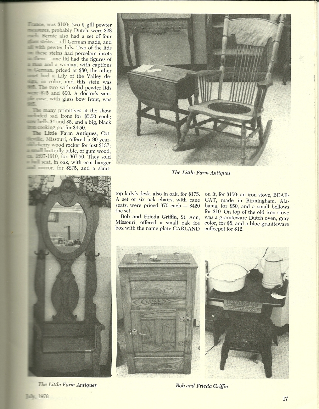 National Antiques Review Magazine July 1976 Volume VIII Number 1