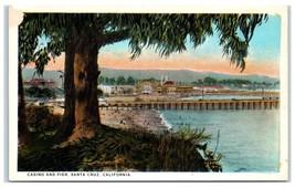 Early 1900s Casino and Pier, Santa Cruz, CA Postcard  - $9.04