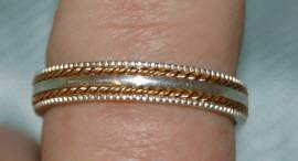 Wholesale Lot 15 Gold Fill Sterling Silver Bands 4 to 9
