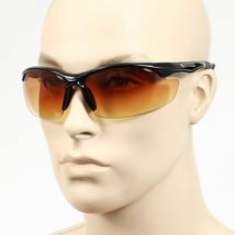 Sport Wrap Hd Night Driving Vision Sunglasses Matte High Definition Glasses - $7.91+