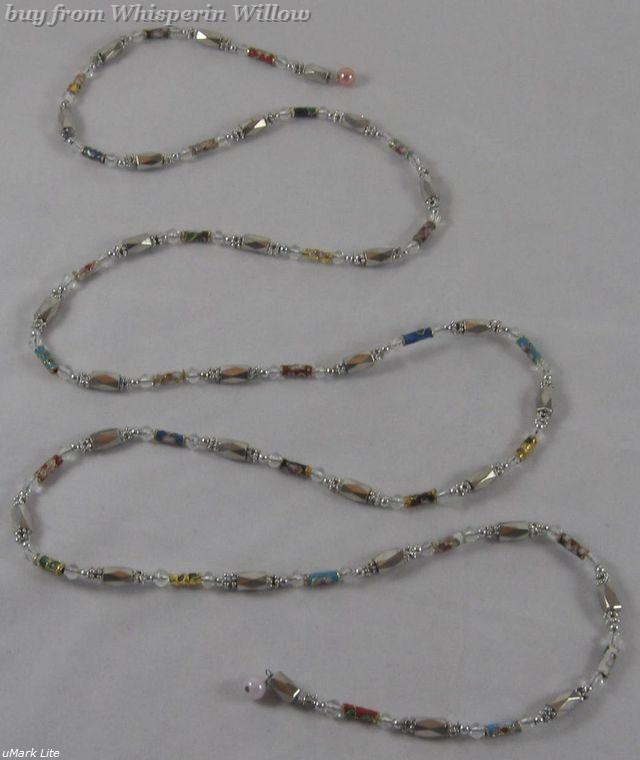 Primary image for Silver MagneticHematite Cloisonne Bead Lariat