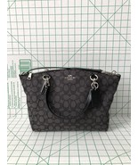 Coach F27582 Outline Signature Small Kelsey Jacquard Satchel Black Crossbody Bag - $99.75