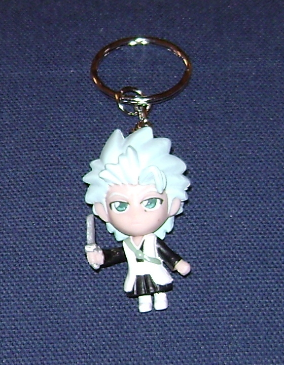 "BLEACH ANIME KEY CHAIN 2"" TOSHIRO CHIBI FROM JAPAN NEW!"