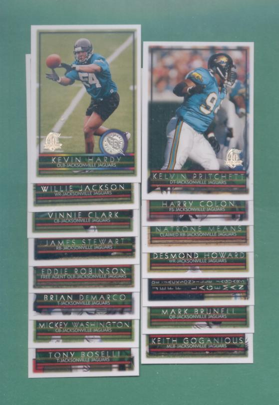 1996 Topps Jacksonville Jaguars Football Set