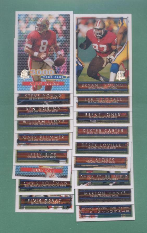 1996 Topps San Francisco 49ers Football Team Set