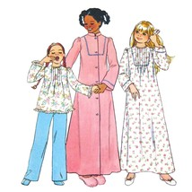 1970s Vtg Simplicity Sewing Pattern 7731 Girls Easy Pajamas Nightgown Ro... - $6.95