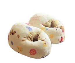 Super Cute Rabbit Slippers Women Shoes Slippers, Cream Beige