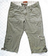 Lee Jeans Capri Cargo Womens Jeans Pants Army Green Size 3/4 Medium One ... - $13.09
