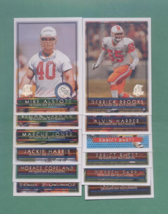 1996 Topps Tampa Bay Buccaneers Football Team Set