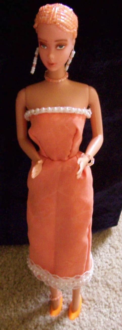 Beaded Hair Fashion Doll Taylynn OOAK Refashioned Vintage Barbie