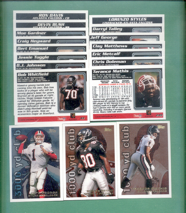 1995 Topps Atlanta Falcons Football Set