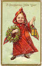A Prosperous New Year Vintage 1911 Post Card - $6.00