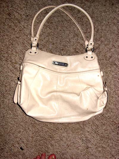 Liz & Co Large Off White  ReptileTextured Purse