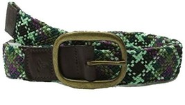 XS/S prAna Unisex Rhodes Web Belt Metal Buckle Seaweed NEW Men's Women's