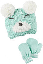 Carter's Girls' Winter Hat-Glove Sets D08g104, Turquoise, 12-24M - $83.01