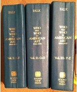 Who Was Who in American Art : 1564-1975 (3-Volume Set) Falk, Peter Hastings - $138.51