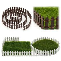 Miniature Fairy Garden Kit Wood Fence Terrarium Fairy Bonsai Dollhouse D... - $2.99