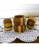 Beaded Napkin Rings Browns - $8.00