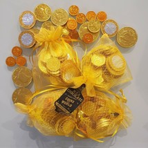 4 Pack! 1 lb Trader Joe's Milk Chocolate Gold Coins of the World Candy H... - $26.18
