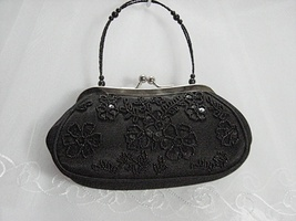 Sequin beaded floral bridal clutch wedding party handbag purse occasion ... - $26.00