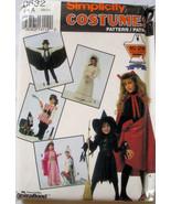 0632 Children NO SEW Witch Pirate Bride Vampire Sz 2-12 - $3.99