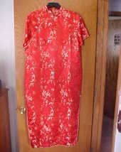 Ladies NWOT Large Size Oriental Dress Red & Gold  - $15.00