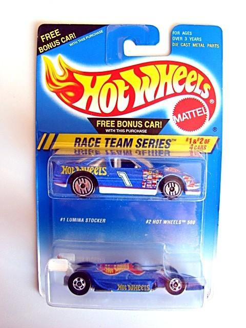 Hot Wheels Race Team 2-Pack Lumina Stocker/Hot Wheels 500