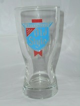 Heileman's OLD STYLE Beer Tap Glasses Libby Glass Hour Glass Shape Thick... - $9.49