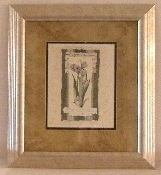 Signed Matted Framed Carol Robinson Tulips Print