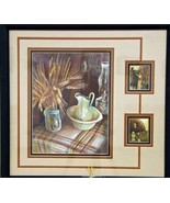 Original Art colorpencil drawing framed 16x20 Sandhill Soddy pioneer wheat  - $225.00