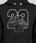 L.A. LAKERS LEBRON JAMES BLACK PANTHER PARODY HOODIE *OLDSKOOL* Men Shirt  - $37.61+