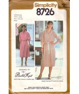 VTG Simplicity 8276 c.1978 Pullover Dress and Tie Belt - $12.00