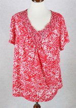 Faded Glory Womens Short Sleeve Blouse Size 1X 16W - $14.84
