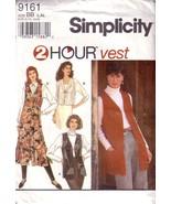 Simplicity 9161 c.1994 -Misses 2 Hour Vest - $12.00