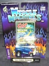 Muscle Machines '56 FORD PICKUP Truck BLUE w/Orange/Yellow F - $9.96