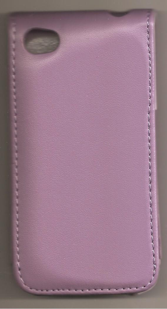 Leather Case Cover Pouch for Apple IPhone 4 4G Purple