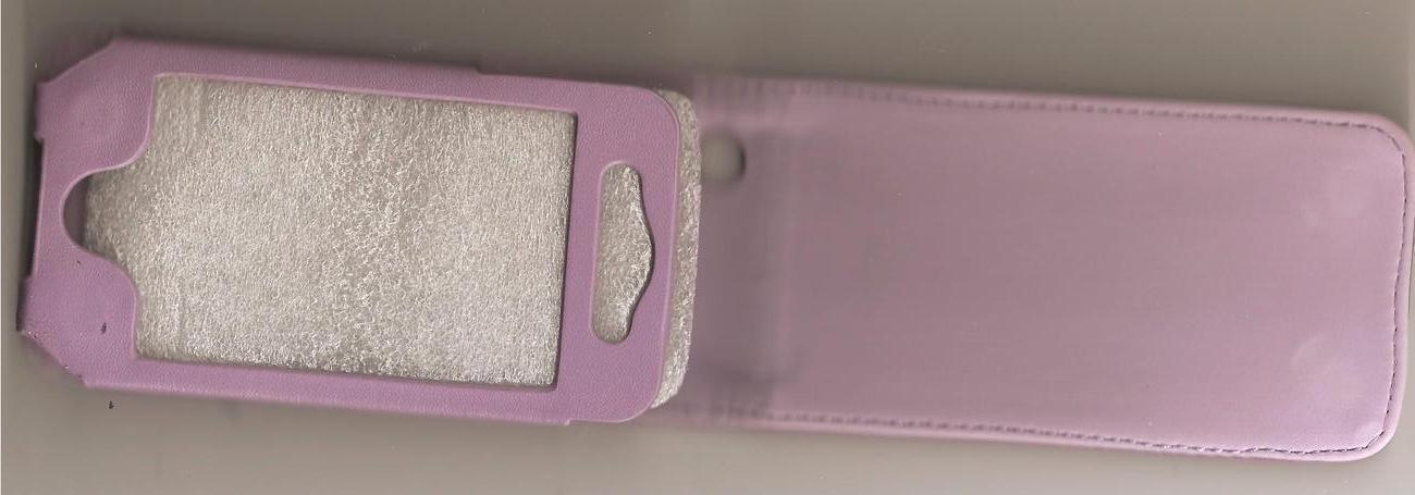 Leather Case Cover Pouch for Apple IPhone 4 4G Purple image 2