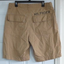Tommy Hilfiger Brown Shorts Block Letter Size 33 100% Cotton Casual Solid - $14.84