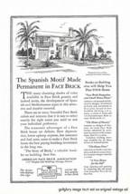 1926 American Face Brick Vintage Magazine Print Ad Spanish - $3.50