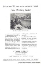 1926 Copper & Brass Research Assoc. Vintage Print Ad - $3.50