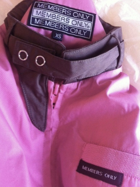 MEMBERS ONLY pink candy-chocolate two-toned awesome style JACKET NEW NWT RARE