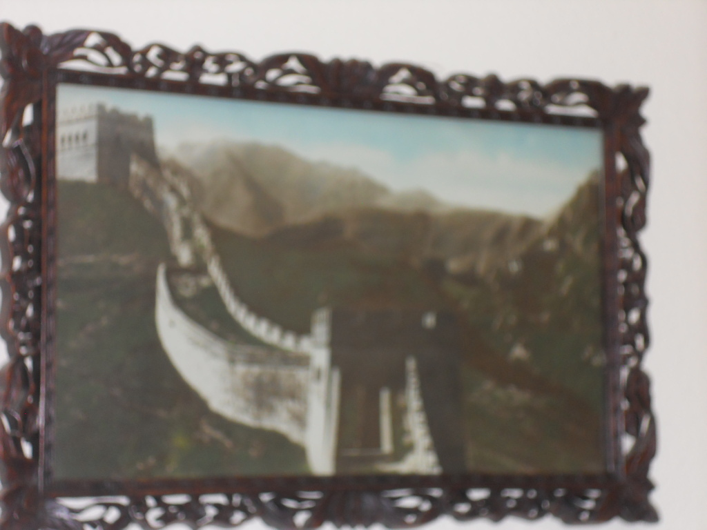 Vintage Photos China Wall in Carved Frame