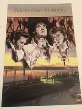 Elvis Presley Postcard Painting Sunset Over Memphis - $3.46