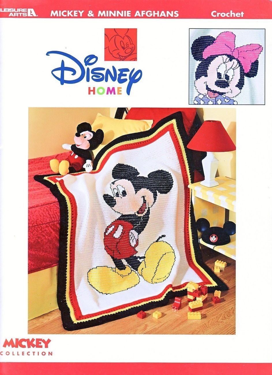 Mickey & Minnie Afghans Crochet Patterns Book Disney